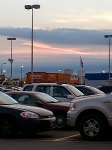 painted sky over Popeyes