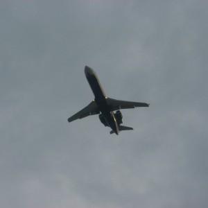 plane flying high